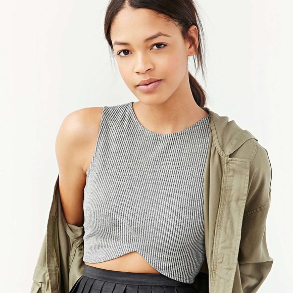 8be80524 Urban Outfitters Tops | Silence Noise Ribbed Crossfront Cropped Tank ...
